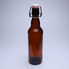 Крышка 500 Стеклянная бутылка с бугельным замком 0,5 л, коричневая, бугель