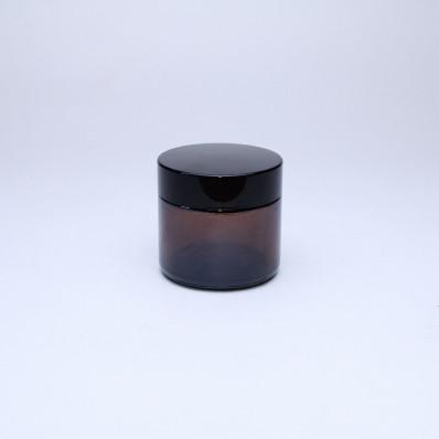 Крышка 60 Баночка КМ-60мл, ТВИСТ коричневая с крышкой