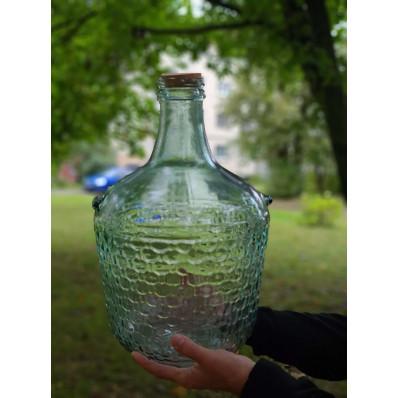 Стеклянная бутыль, 12Л, пробка корковая