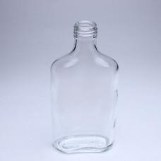 """250 Стеклянная бутылка """"Фляжка"""" под винтовой колпачок, диаметр 28"""