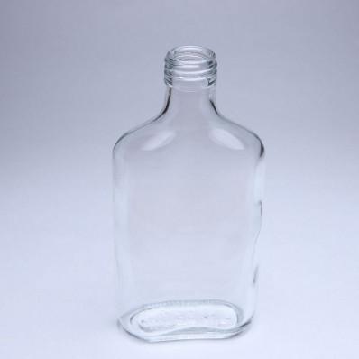 """Крышка 250 Стеклянная бутылка """"Фляжка"""", винтовая под винтовой колпачок, диаметр 28"""