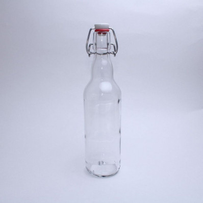 купить Стеклянная бутылка с бугельным замком 0,5 л, прозрачная