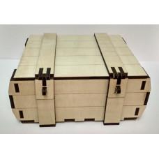 Деревянная сувенирная коробка 195х160х60мм