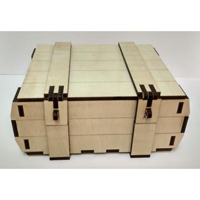 Крышка Деревянная сувенирная коробка 195х160х60мм