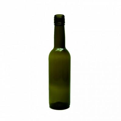 Стеклянная бутылка Оливковая 375 мл под колпачок 28*18мм