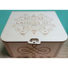 "Коробка-шкатулка деревянная ""Candies set"""