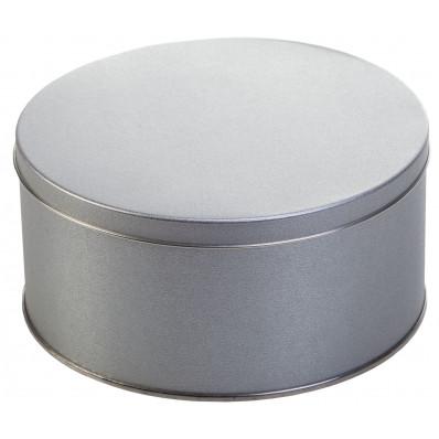 Крышка Металлическая коробка круглая диаметр 15,3 см, высота 7,5 см