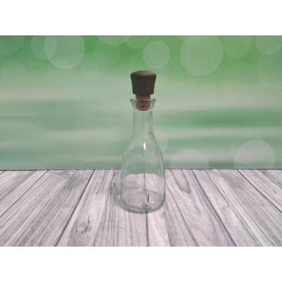 Крышка Стеклянная бутылка Белль, 200 мл, пробка
