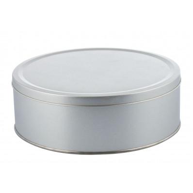 Крышка Металлическая круглая коробка диаметр 21,5 см, высота 7,5 см