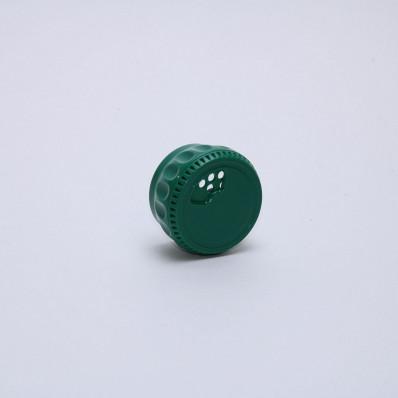 Крышка-дозатор пластиковая для специй зеленая
