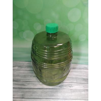 "Крышка 10000 Стеклянный бутыль ""Бочонок""10л, зеленое стекло, крышка"