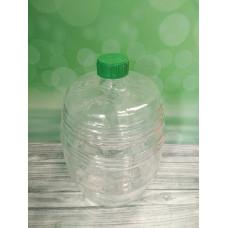 """Крышка 10000 Стеклянный бутыль """"Бочонок""""10л, прозрачное стекло, крышка"""