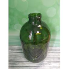 Стеклянный бутыль 10л, зеленое стекло, ТО-82